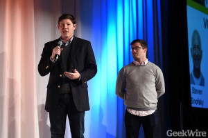Brian Bosche and Dan Bloom of Slope - GeekWire Startup Day 2016
