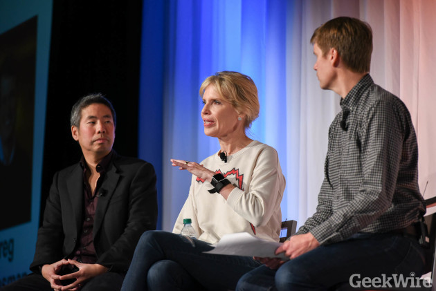 Heather Redman at Geekwire Startup Day 2016.