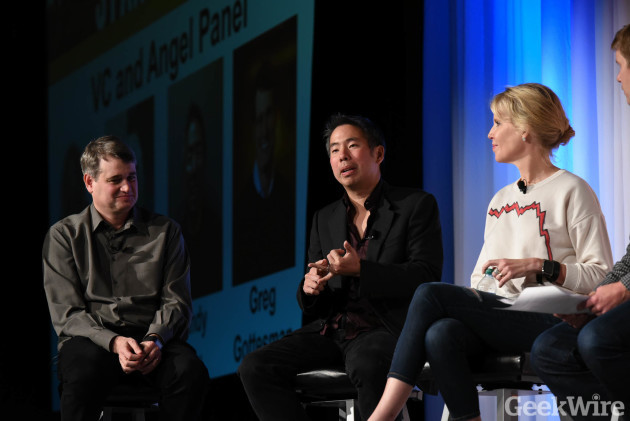 Andy Liu at GeekWire Startup Day 2016.
