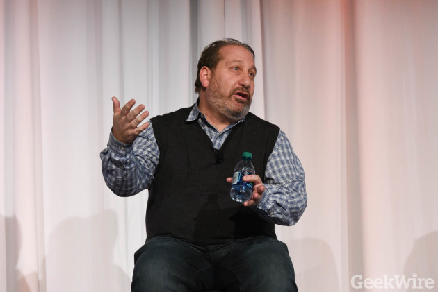 Dean Graziano speaking at the 2016 GeekWire Startup Day. (GeekWire Photo)