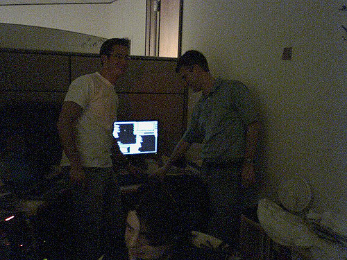 Rich Barton and CTO David Beitel launch Zillow.com in 2006. (Photo by Bill Nordwall, Foundry Interactive.)