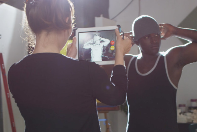 An Occipital Structure Sensor body scan in progress. (Photo by Daniel Rasmus).