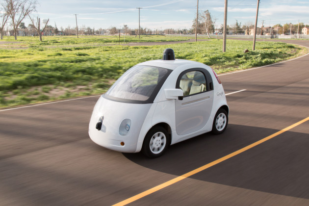 Google's other self-driving vehicle is this egg-shaped prototype.