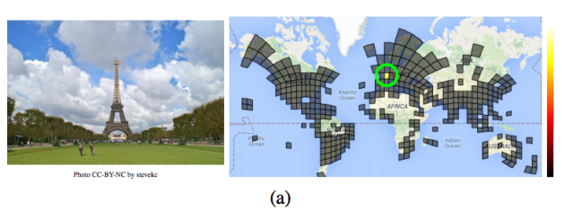 An image of the Eiffel tower may be easy for a human to place, but now machines can place it as well. Image via arXiv.