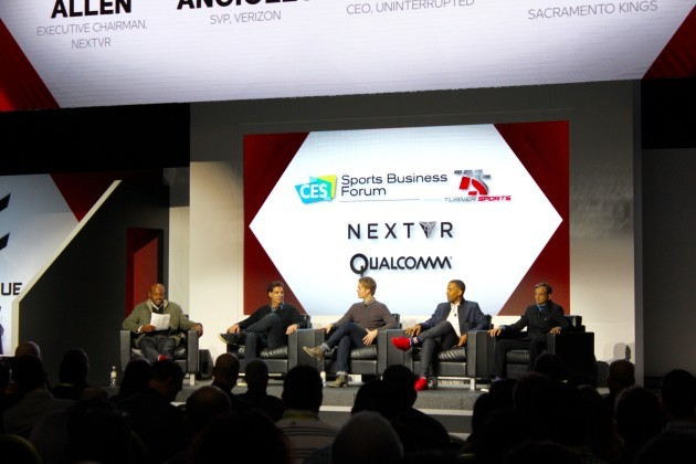 NextVR Chairman speaks on a panel at CES in January with Verizon executive Brian Angiolet, Uninterrupted President, Maverick Carter, and Sacramento Kings owner Vivek Ranadive.