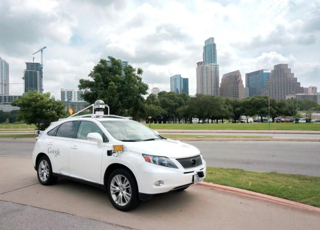 Google's self-driving Lexus SUV in Austin.