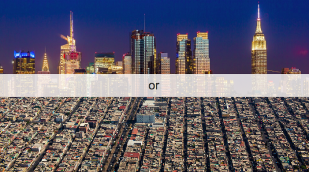 NYC skyline vs. LA skyline. Courtesy of Redfin.