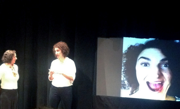 Bridget Quigg tests her techy audience's empathy with social queues game.