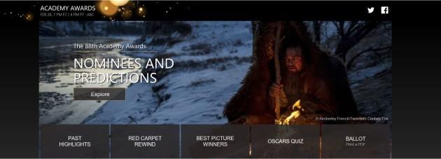 Bing Oscar Guide