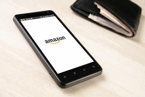 Amazon app. (Image via Shutterstock.)