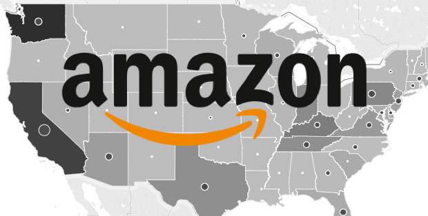 Click for an interactive map, showing Amazon's growing national footprint.