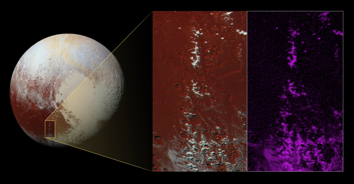 Image: Pluto snow-capped mountains