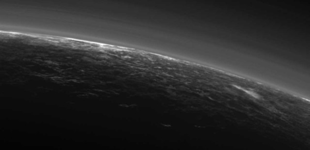 Potential cloud on Pluto