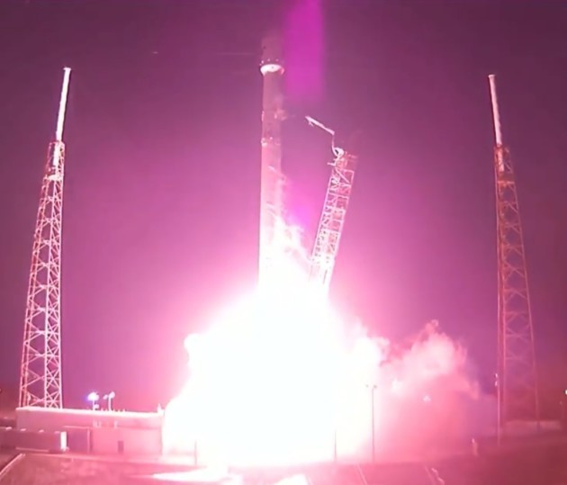 SpaceX Launches Giant Communications Satellite, Tries Landing