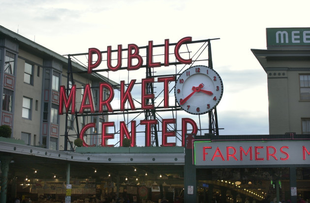 Seattle Pike Place Market clock