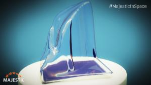 Majestic 3-D printer space sculpture