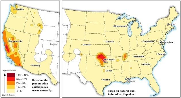 Earthquake damage hazard map