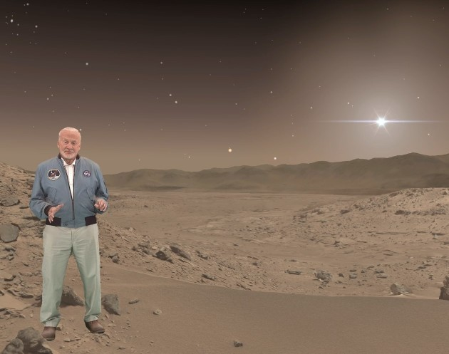 Buzz Aldrin in HoloLens Mars experience