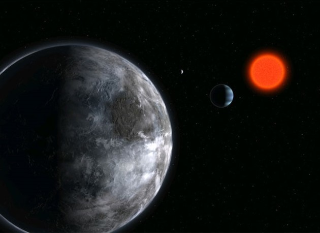 Red dwarf planetary system for SETI