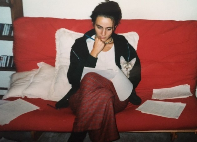 Ostojic grading papers as part of her teaching assistant duties during grad school. Photo from the late '90s.