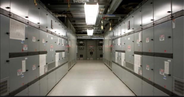 Centeris SH1 Electrical Rm Dual 115 KV Feeds A.B