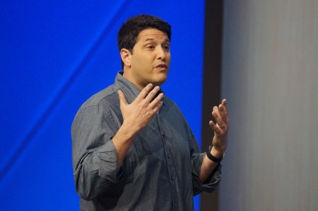 Terry Myerson, Windows and Devices Group executive vice president, at Microsoft Build. (GeekWire File Photo)