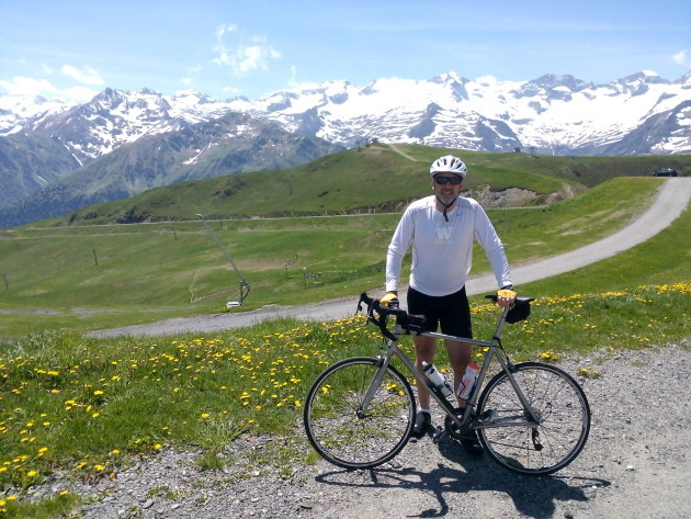 Jrrny founder John Keuber cycles through the Pyrenees.
