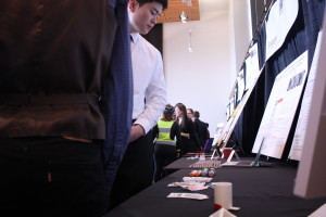18 teams competed for the three winning spots, giving pitches and demonstrations of prototypes to the judges. Photo by Clare McGrane.