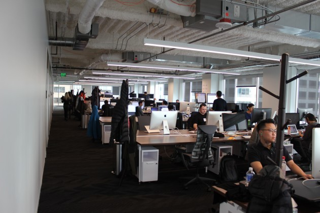 Inside Uber's Seattle engineering office.