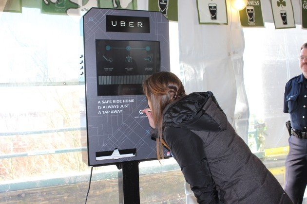Uber unveils new breathalyzer kiosk inside a bar as part of