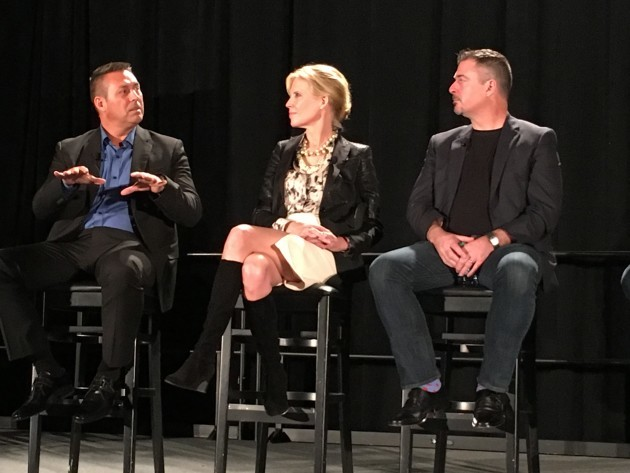 Panelists Gary Rubens, Heather Redman and Bob Kelly at the Milestone9 event in Seattle.