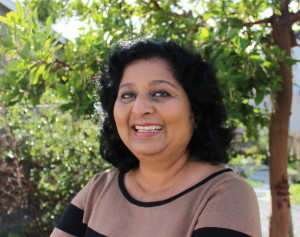 Radhika Thekkath, CEO and co-founder of AgiVox, Inc., a Silicon Valley startup.