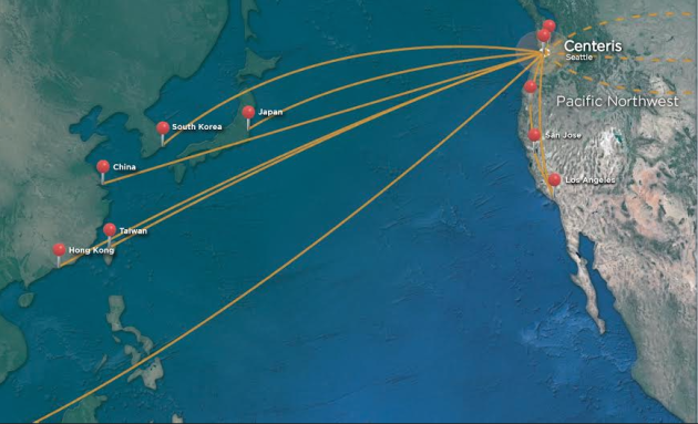 Infographic for the new transpacific hub via Wave