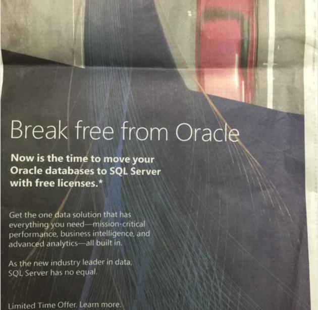 Screen shot of Microsoft ad (Twitter)