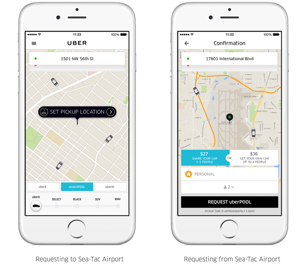 Uber offers carpool option to and from Seattle airport as ...