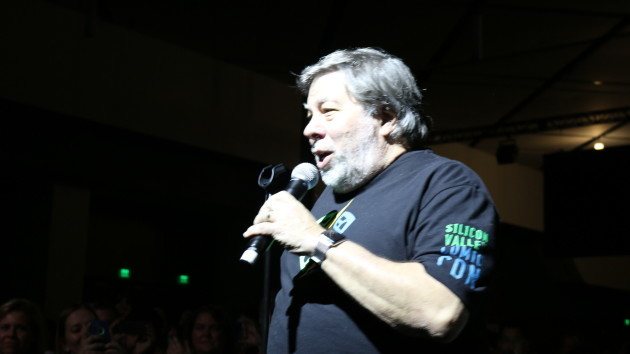 Computer pioneer Steve Wozniak on stage at Silicon Valley Comic Con. Photo via Alyssa Rasmus/Pink Camera Media