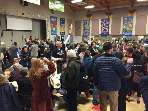Democratic Caucus 2016 in the Queen Anne neighborhood of Seattle