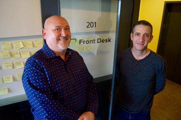 FrontDesk COO John Boyle and CEO Jon Zimmerman
