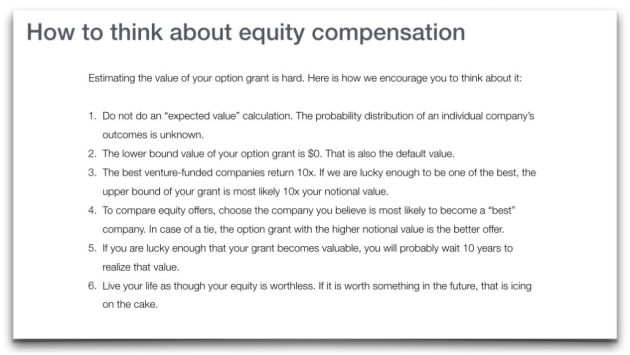 A better offer letter CEO of eShares praised for transparency – Offer Letter
