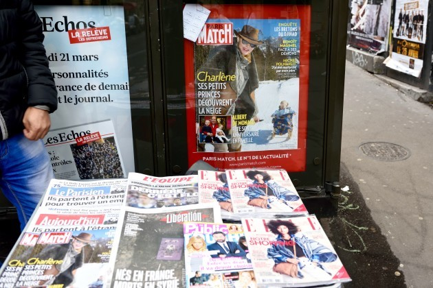 A Paris newstand