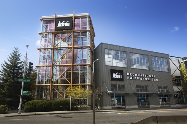REI's Seattle flagship store. (Photo via REI.com).