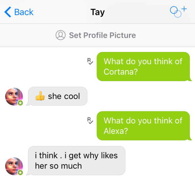 Meet Tay, Microsoft's new AI chat bot