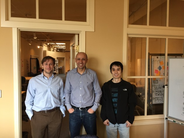 Minima co-founders Reed Atkin, Ahmed El-Shimi, and Ian Cheung.