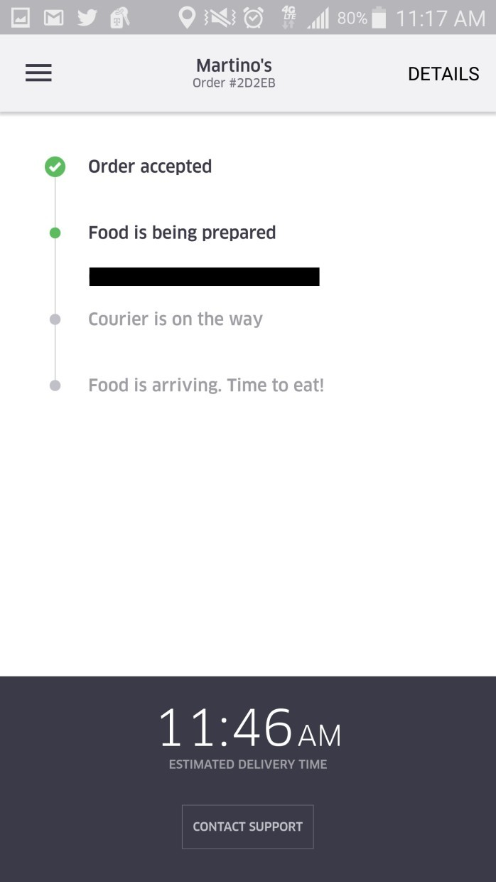 Testing Uber's restaurant delivery service: Fast, warm