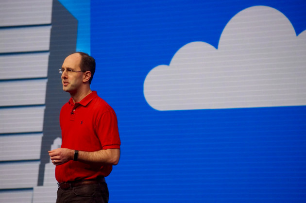 Scott Guthrie, executive vice president of the Microsoft Cloud and Enterprise Group, at Build 2016.