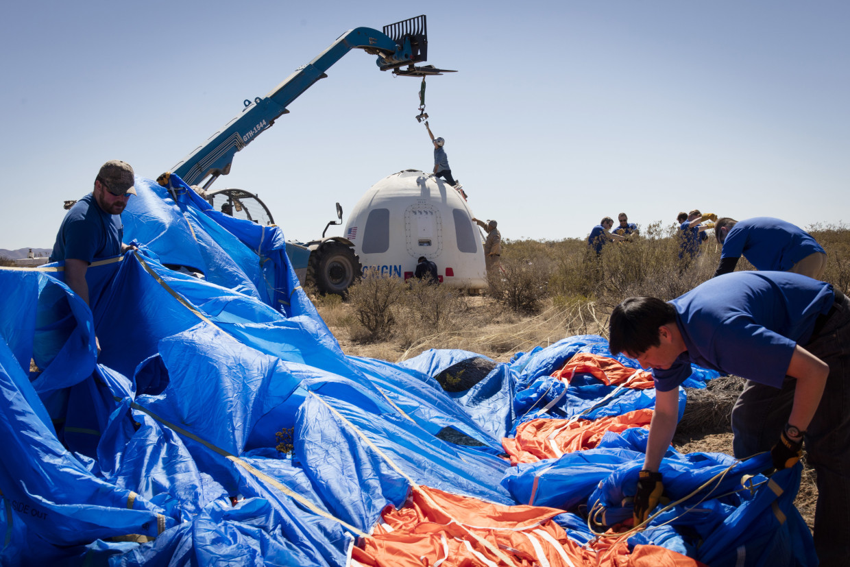 New Shepard crew capsule recovery