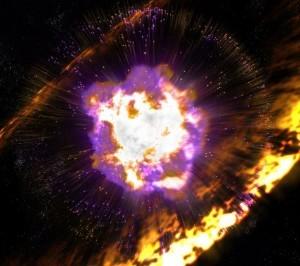 Supernova blast