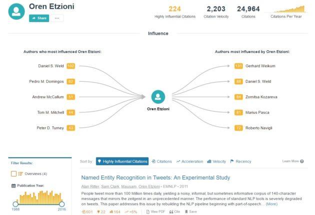 Oren Etzioni profile page