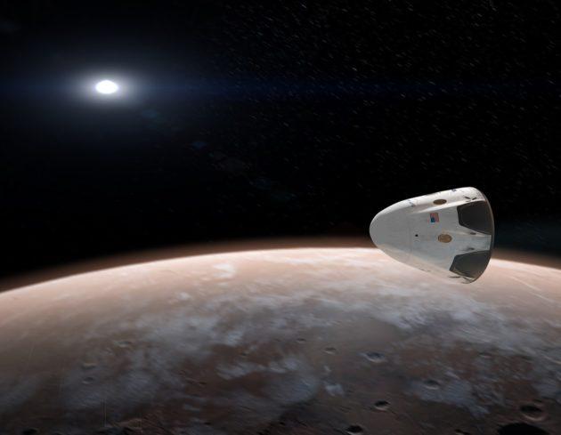 Red Dragon in Mars orbit