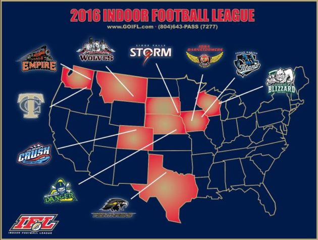The Indoor Football League, which will soon grow to 11 teams.